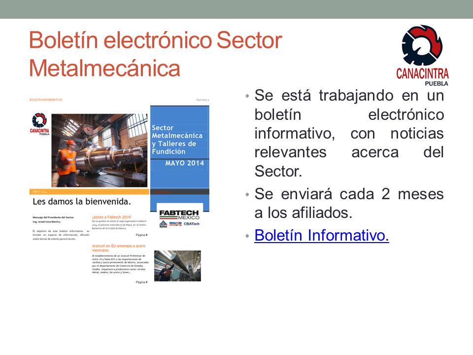 Boletín electrónico Sector Metalmecánica