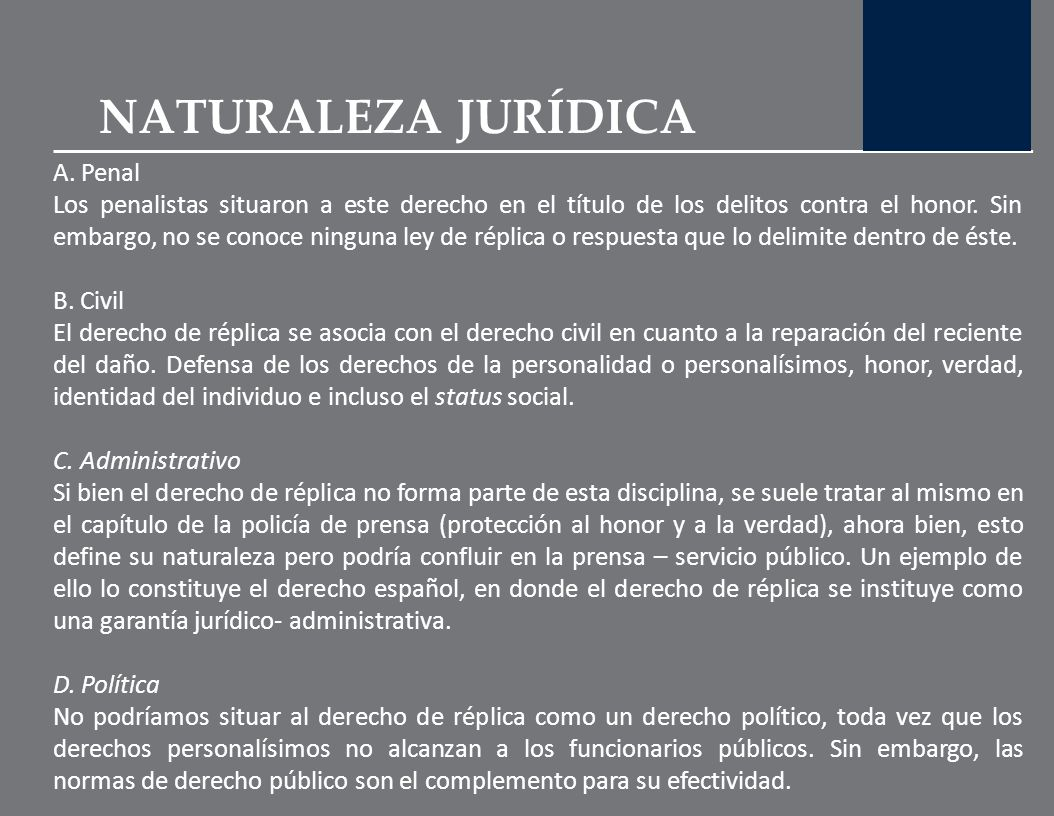 NATURALEZA JURÍDICA A. Penal