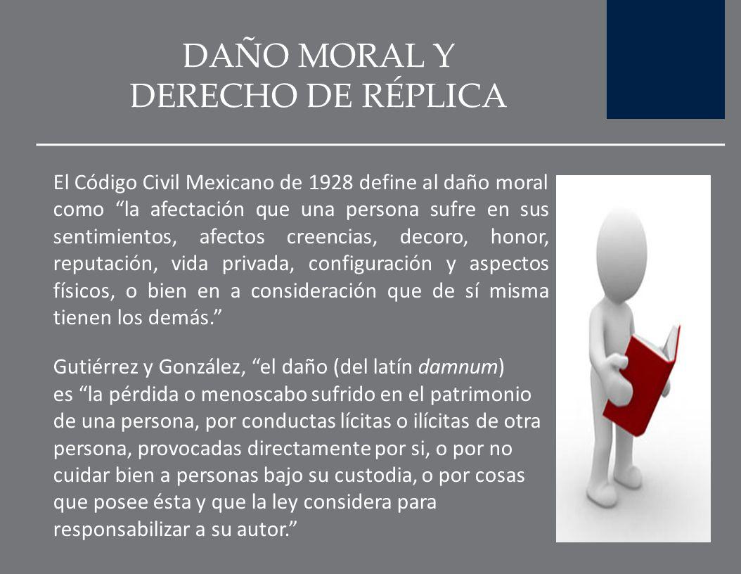 DAÑO MORAL Y DERECHO DE RÉPLICA