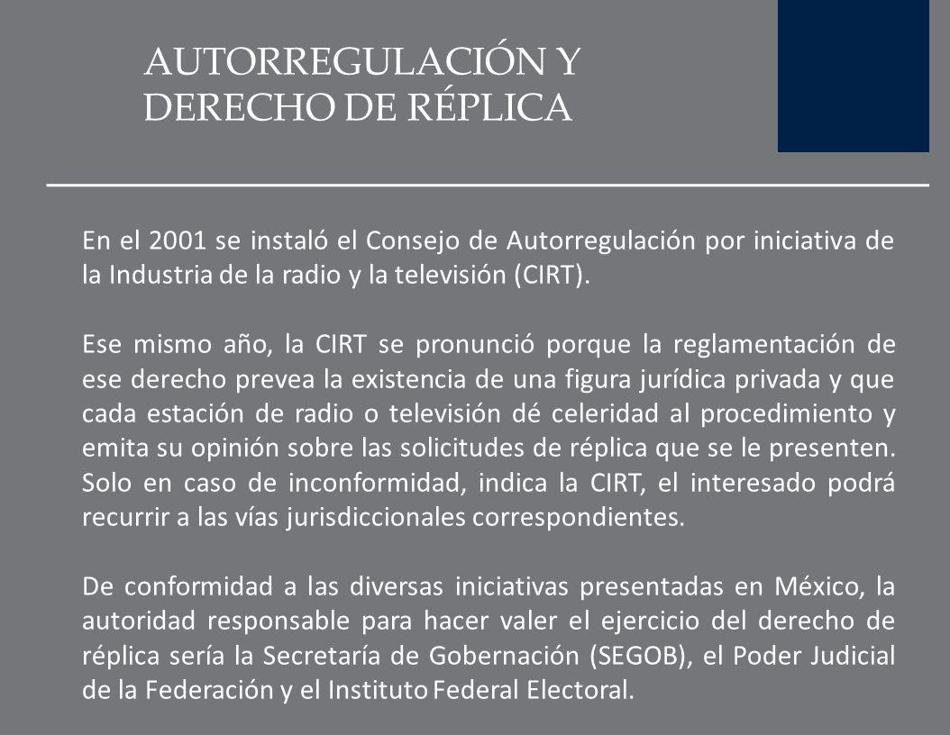 AUTORREGULACIÓN Y DERECHO DE RÉPLICA