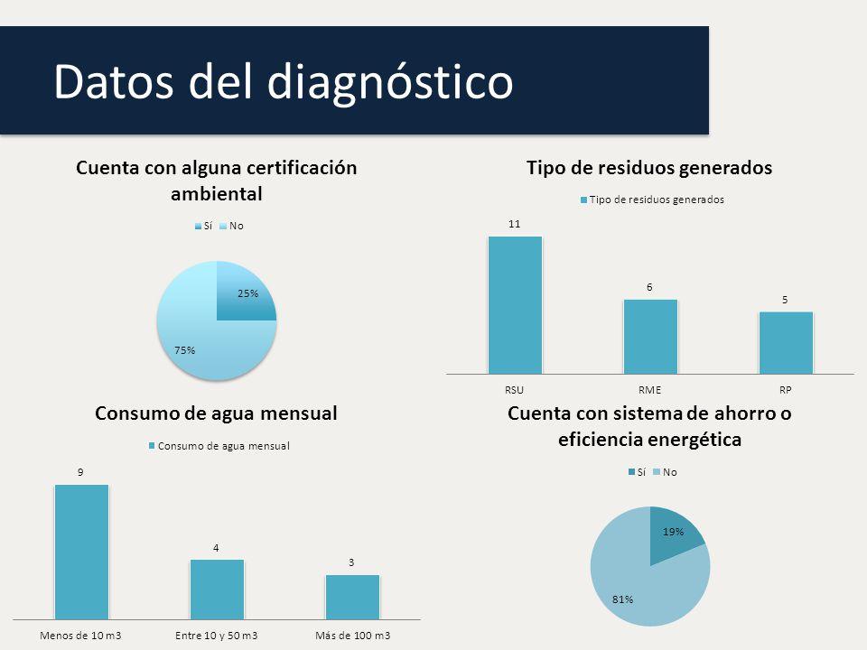 Datos del diagnóstico