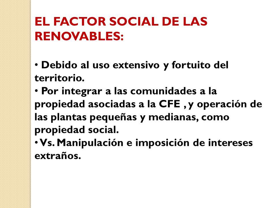 EL FACTOR SOCIAL DE LAS RENOVABLES: