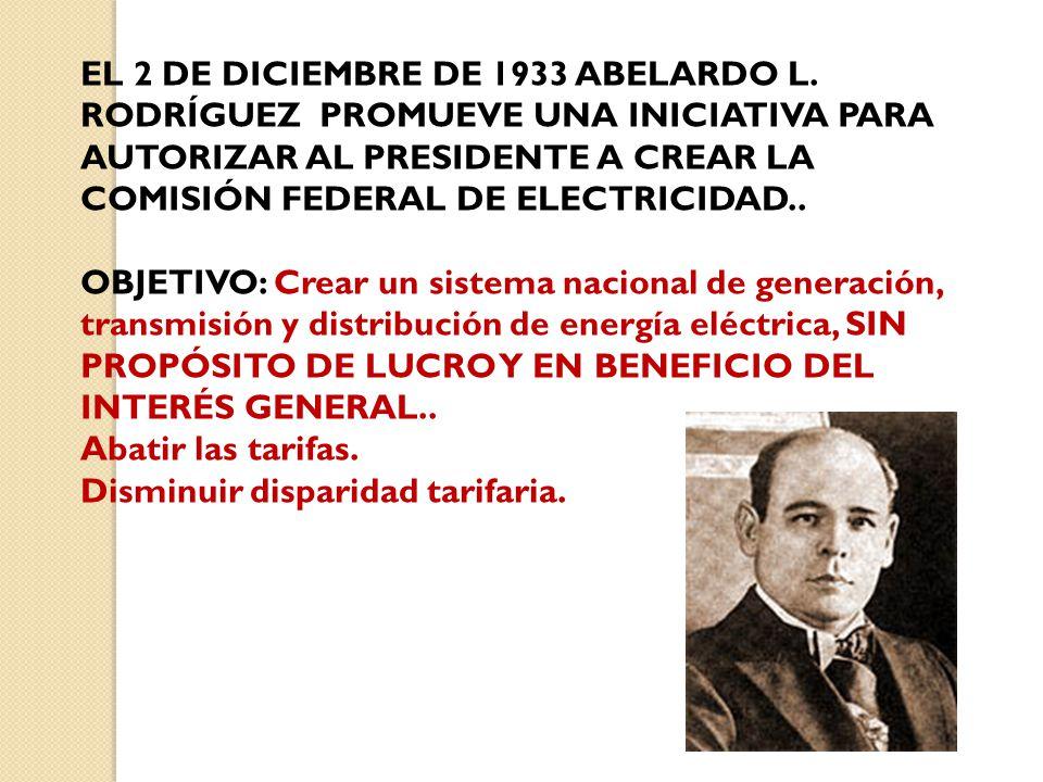 EL 2 DE DICIEMBRE DE 1933 ABELARDO L