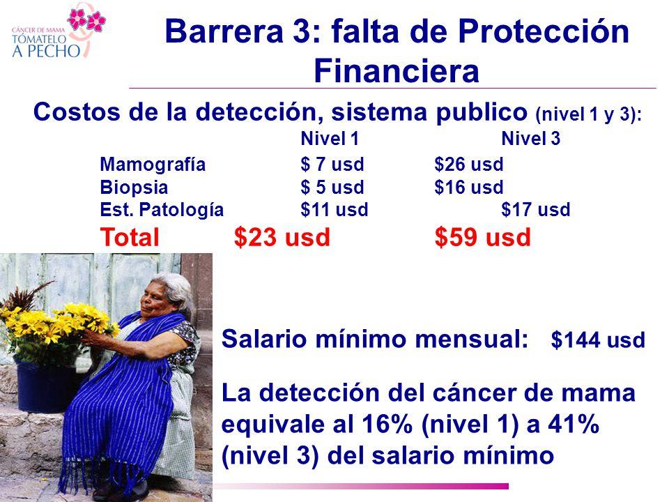 Barrera 3: falta de Protección Financiera