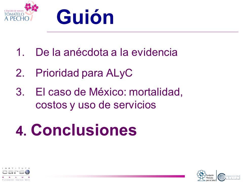 Guión 4. Conclusiones De la anécdota a la evidencia