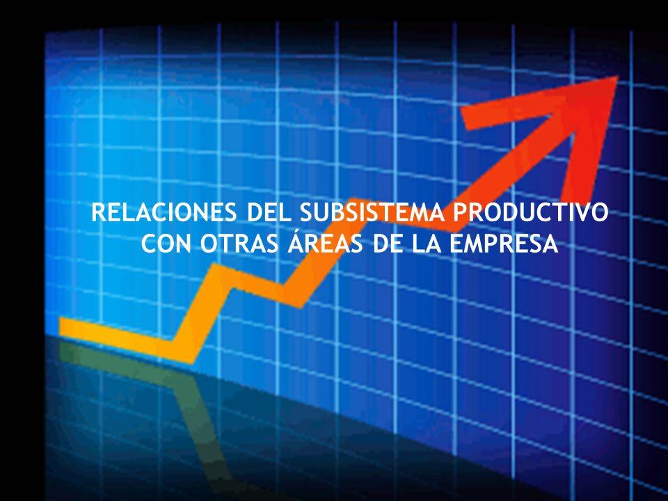 RELACIONES DEL SUBSISTEMA PRODUCTIVO CON OTRAS ÁREAS DE LA EMPRESA