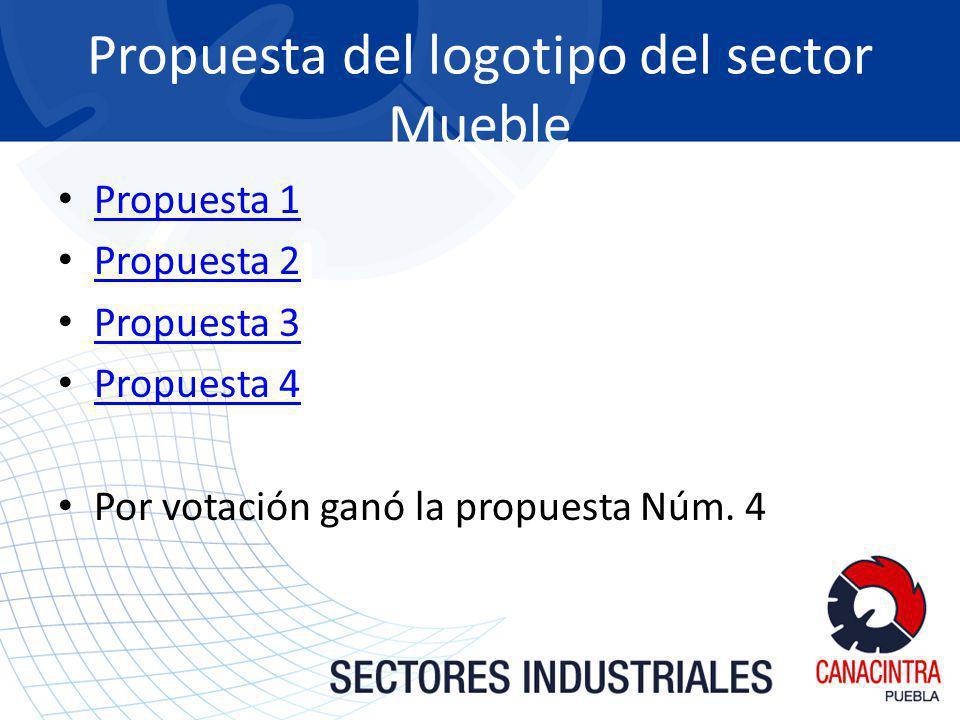 Propuesta del logotipo del sector Mueble