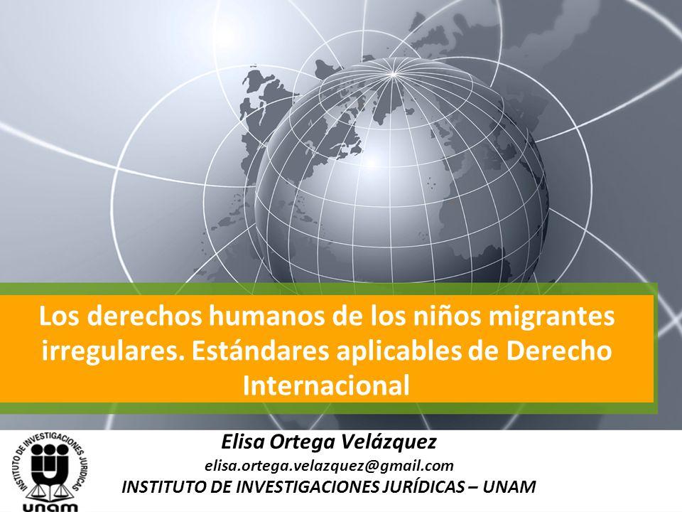Elisa Ortega Velázquez INSTITUTO DE INVESTIGACIONES JURÍDICAS – UNAM