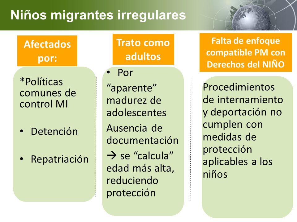 Niños migrantes irregulares