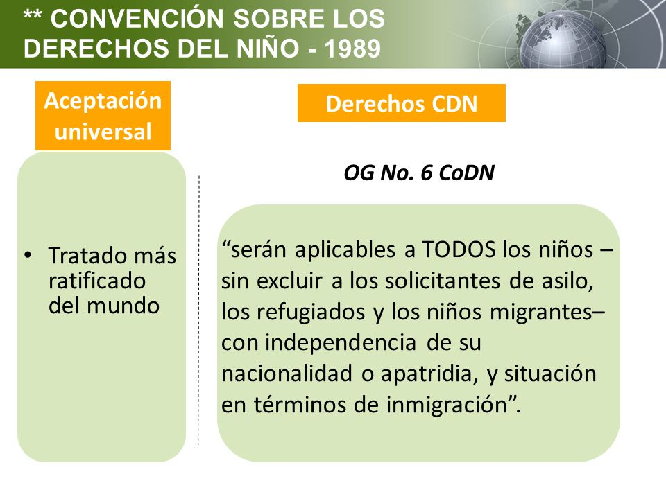 ** CONVENCIÓN SOBRE LOS DERECHOS DEL NIÑO - 1989