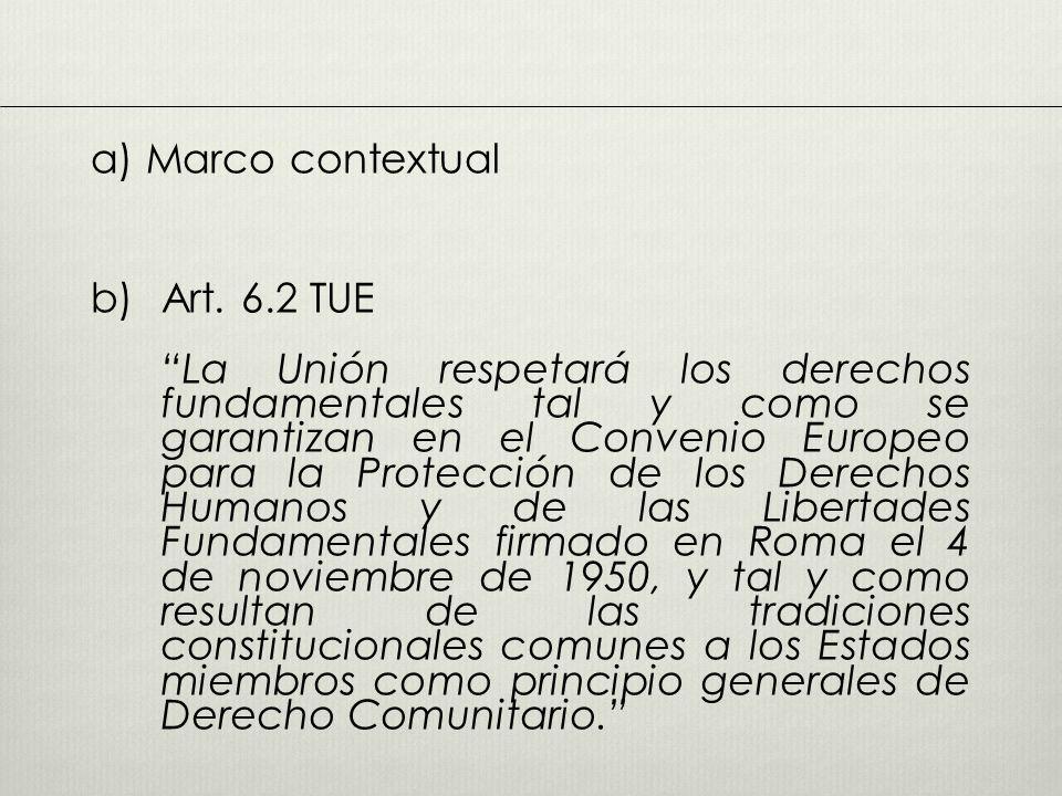 a) Marco contextual b) Art. 6