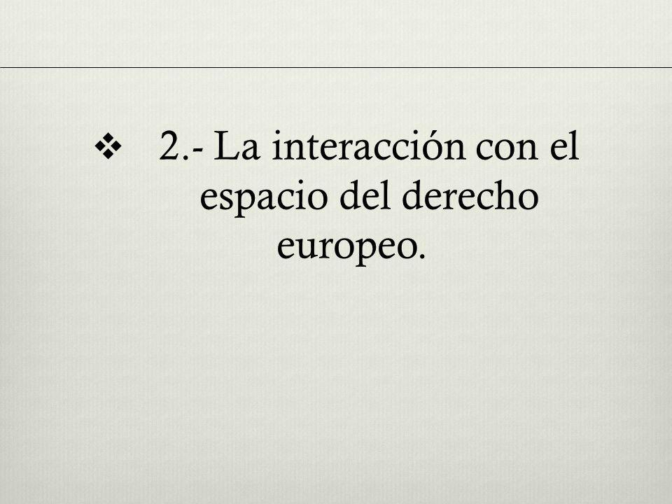 2.- La interacción con el espacio del derecho europeo.