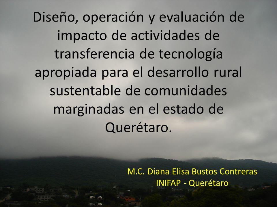 M.C. Diana Elisa Bustos Contreras INIFAP - Querétaro
