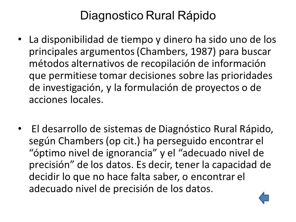 Diagnostico Rural Rápido
