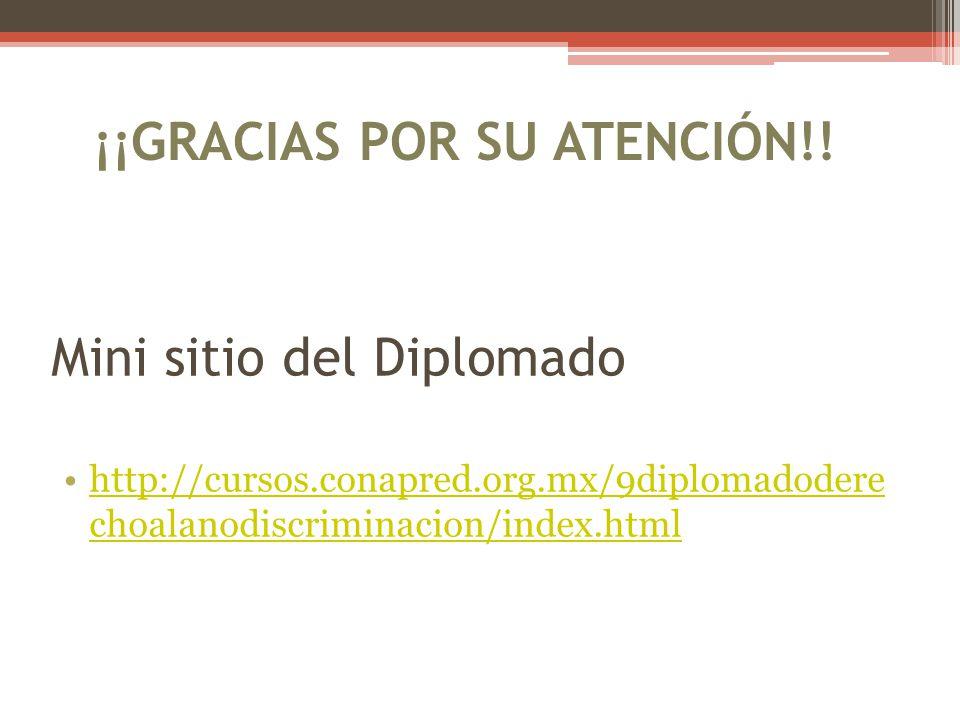 Mini sitio del Diplomado