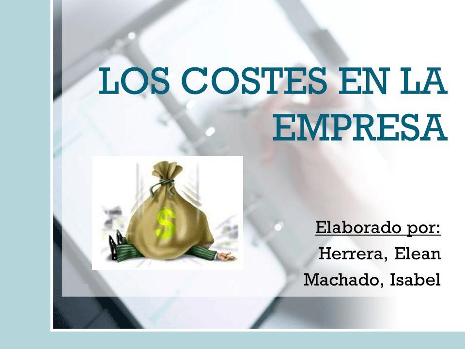 LOS COSTES EN LA EMPRESA