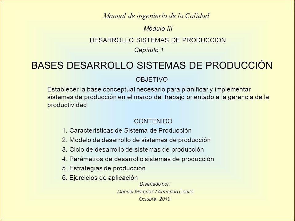 BASES DESARROLLO SISTEMAS DE PRODUCCIÓN
