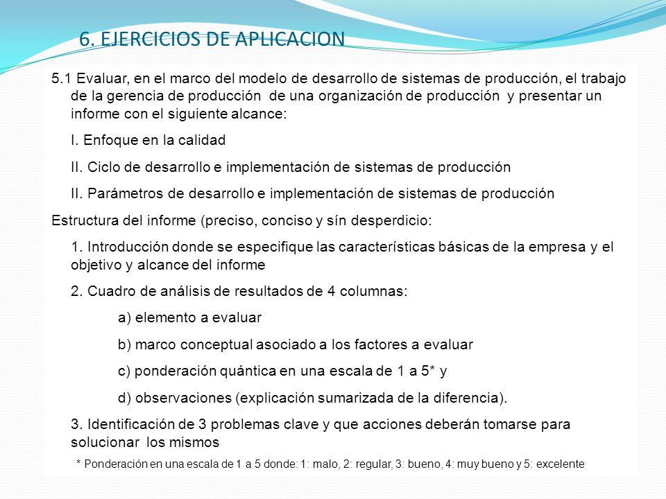 6. EJERCICIOS DE APLICACION