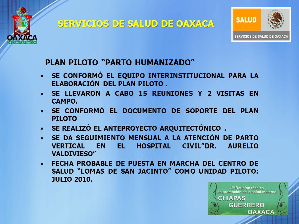 PLAN PILOTO PARTO HUMANIZADO