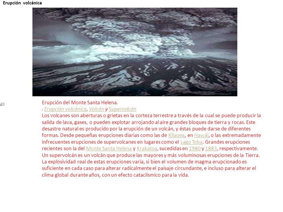 i Erupción del Monte Santa Helena.