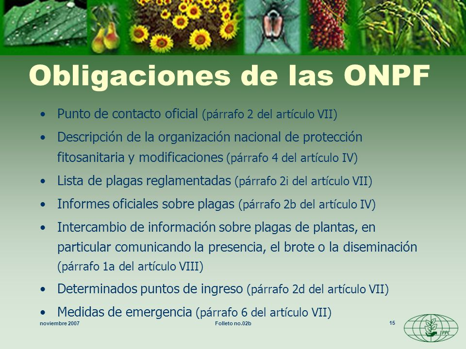 Obligaciones de las ONPF