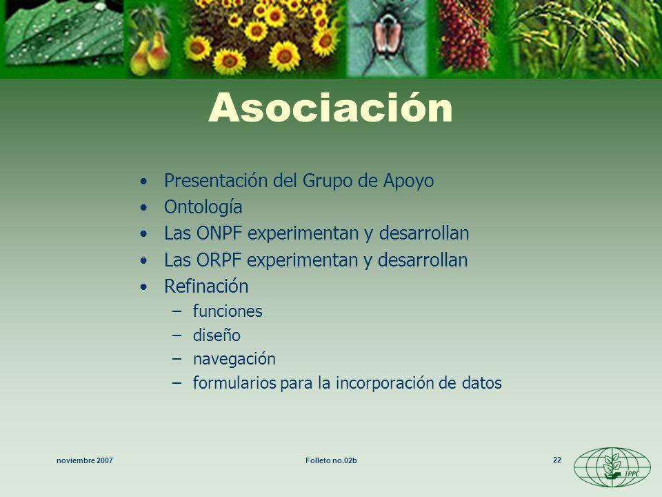 Asociación Presentación del Grupo de Apoyo Ontología