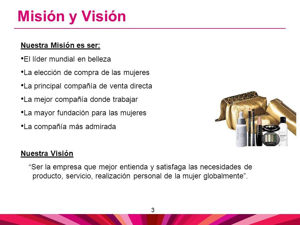 Misión y Visión Nuestra Misión es ser: El líder mundial en belleza