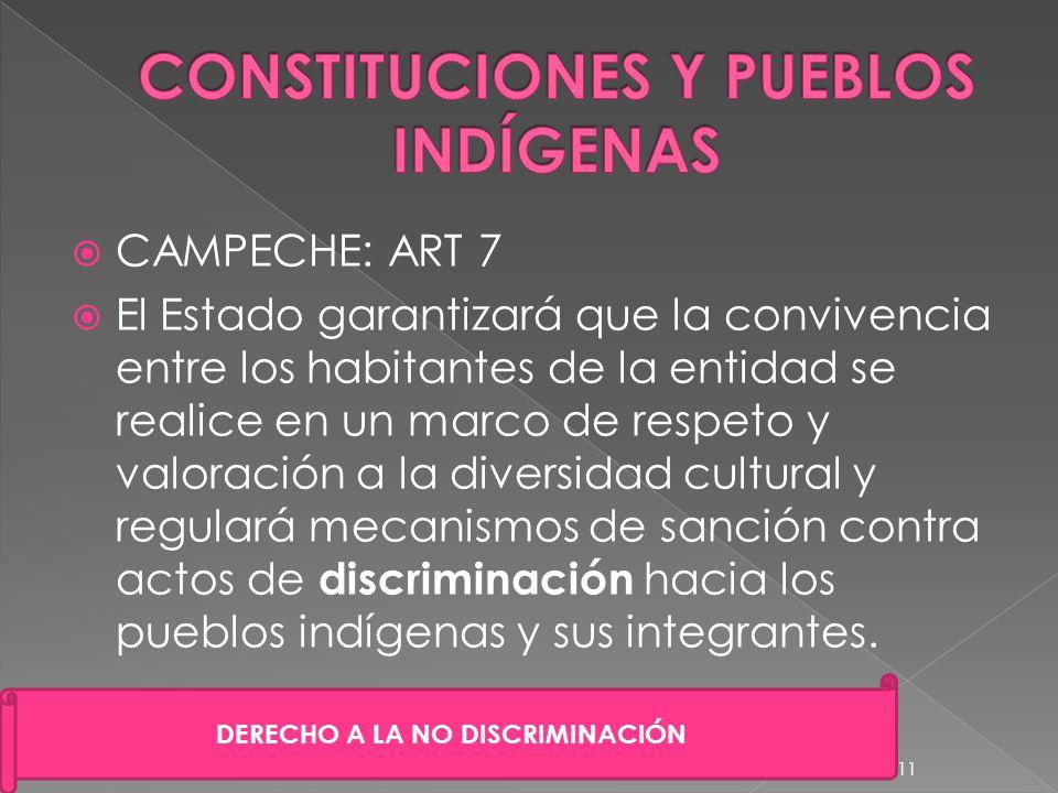 CONSTITUCIONES Y PUEBLOS INDÍGENAS