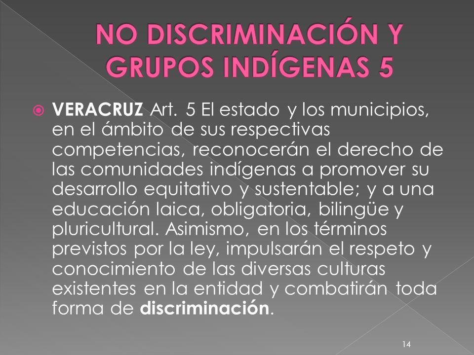 NO DISCRIMINACIÓN Y GRUPOS INDÍGENAS 5