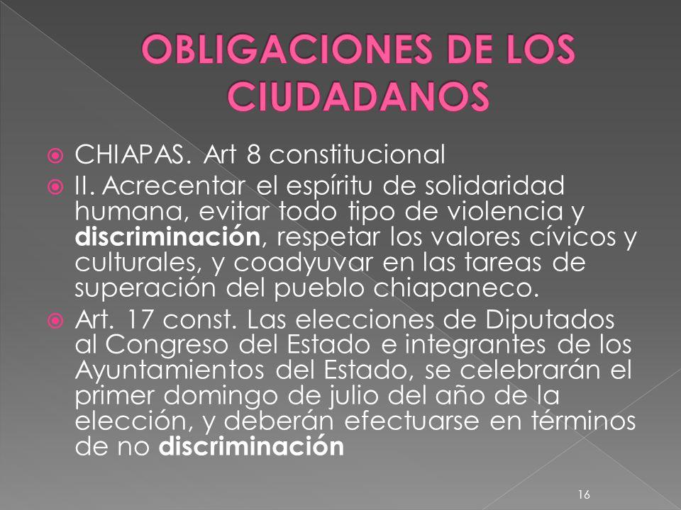 OBLIGACIONES DE LOS CIUDADANOS