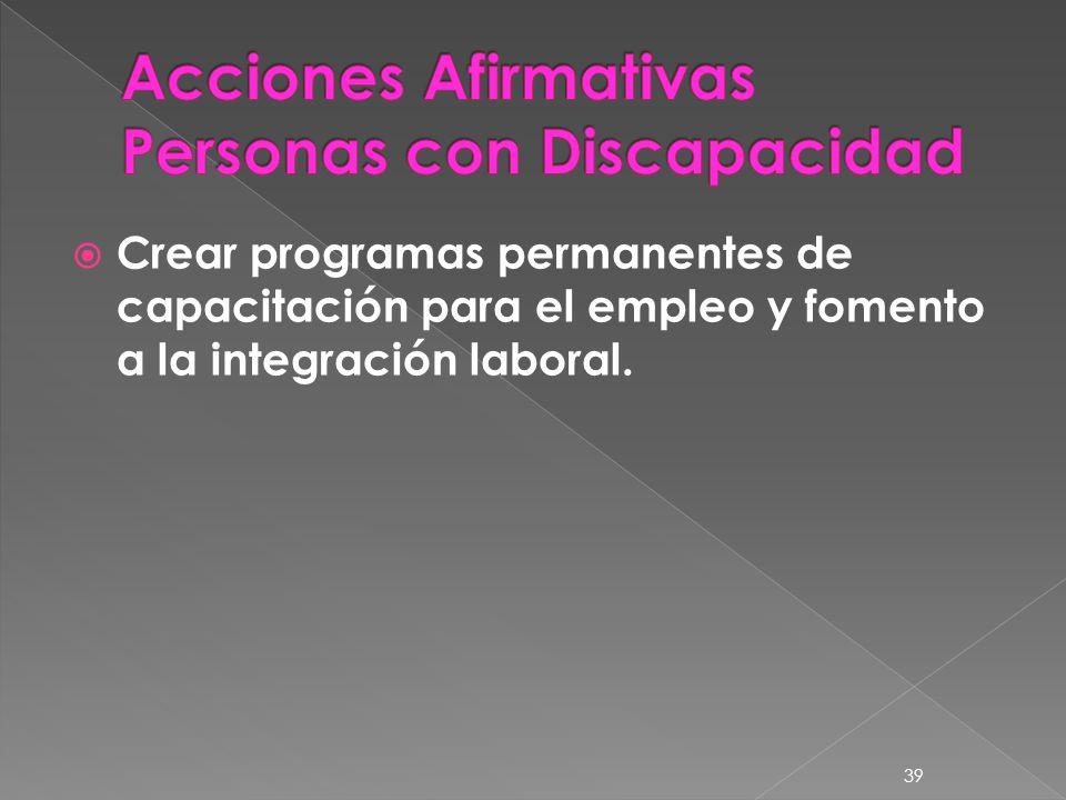 Acciones Afirmativas Personas con Discapacidad