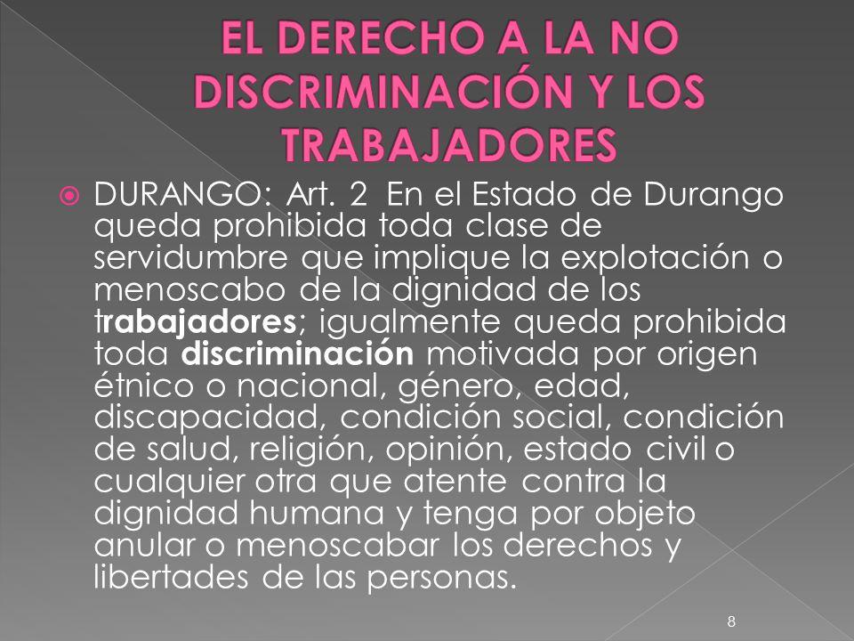 EL DERECHO A LA NO DISCRIMINACIÓN Y LOS TRABAJADORES