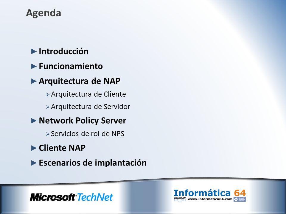 Agenda Introducción Funcionamiento Arquitectura de NAP