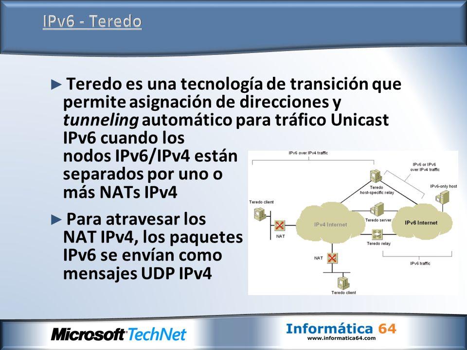 IPv6 - Teredo