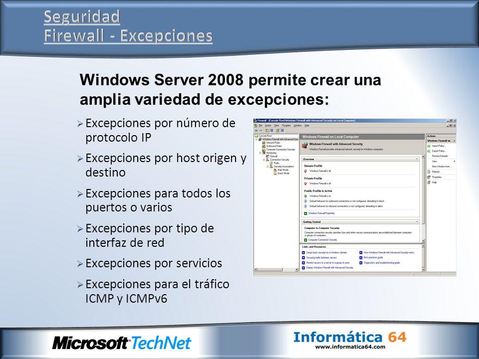 Seguridad Firewall - Excepciones