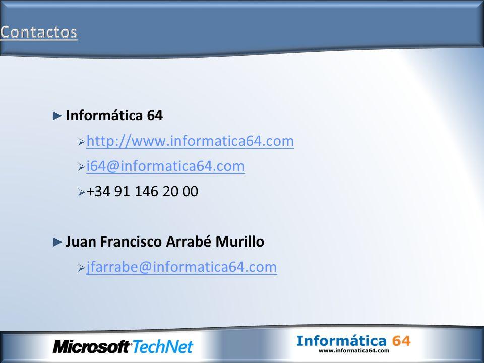 Contactos Informática 64 http://www.informatica64.com