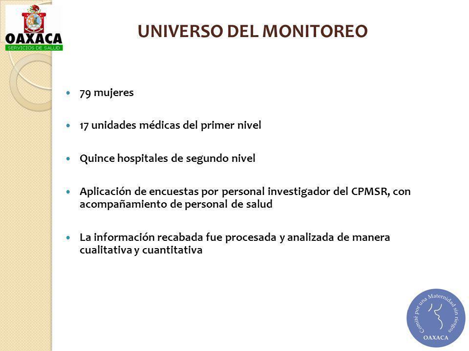 UNIVERSO DEL MONITOREO