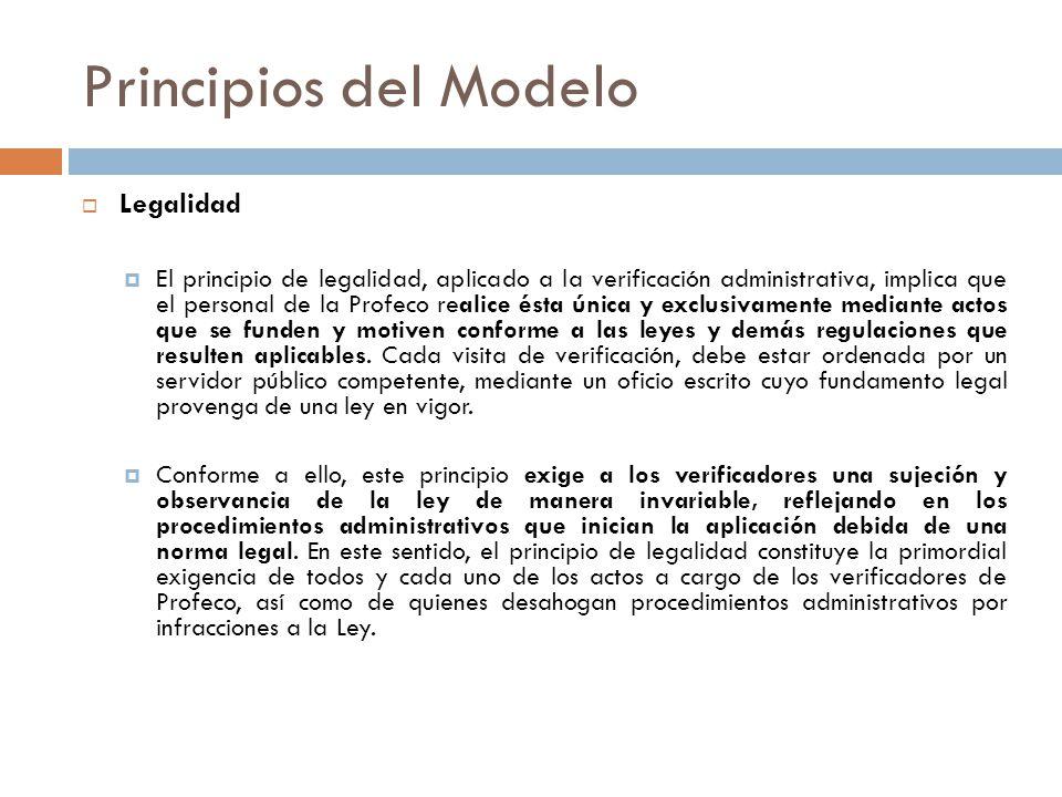 Principios del Modelo Legalidad