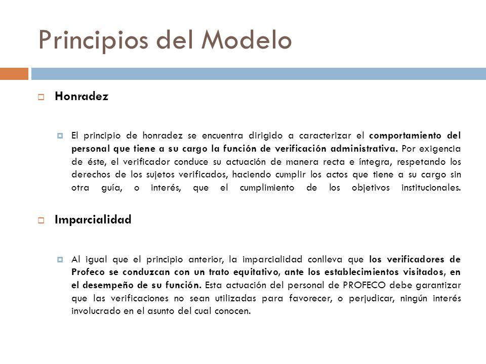 Principios del Modelo Honradez Imparcialidad