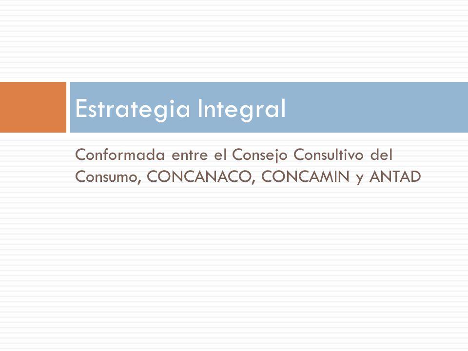 Estrategia Integral Conformada entre el Consejo Consultivo del Consumo, CONCANACO, CONCAMIN y ANTAD.