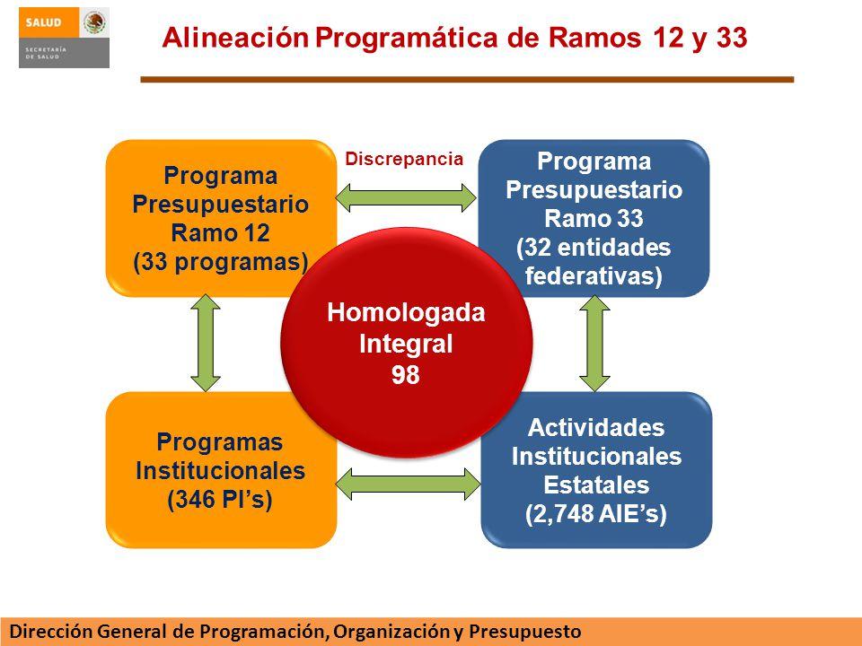 Alineación Programática de Ramos 12 y 33