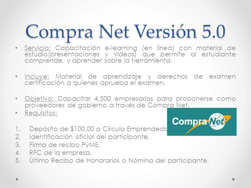 Compra Net Versión 5.0