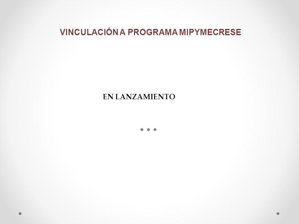 VINCULACIÓN A PROGRAMA MIPYMECRESE