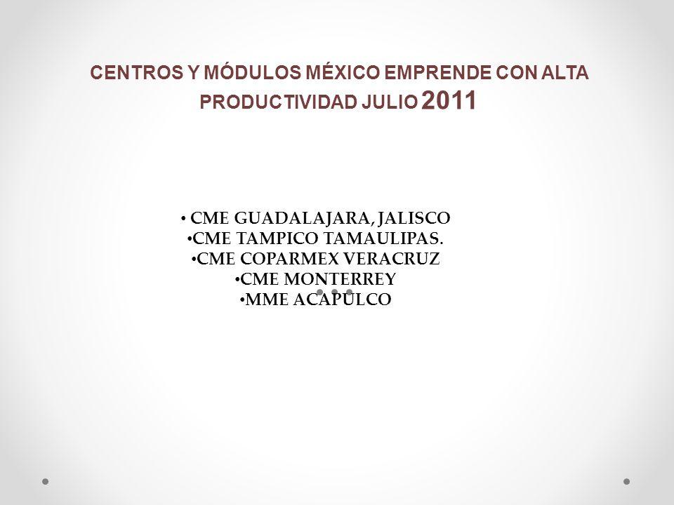 CENTROS Y MÓDULOS MÉXICO EMPRENDE CON ALTA PRODUCTIVIDAD JULIO 2011
