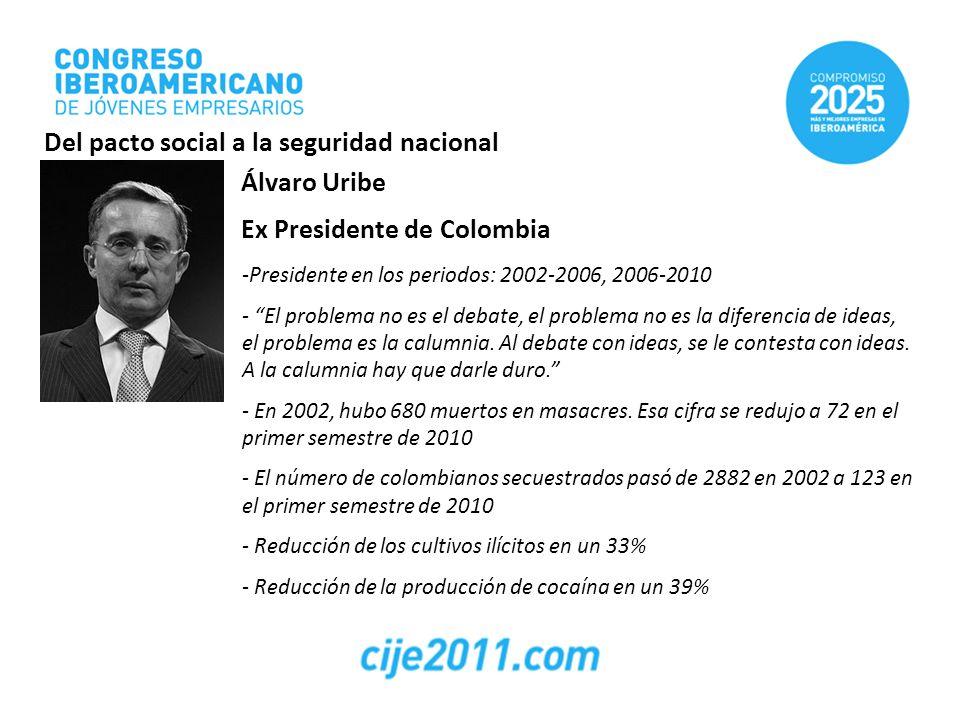 Del pacto social a la seguridad nacional Álvaro Uribe