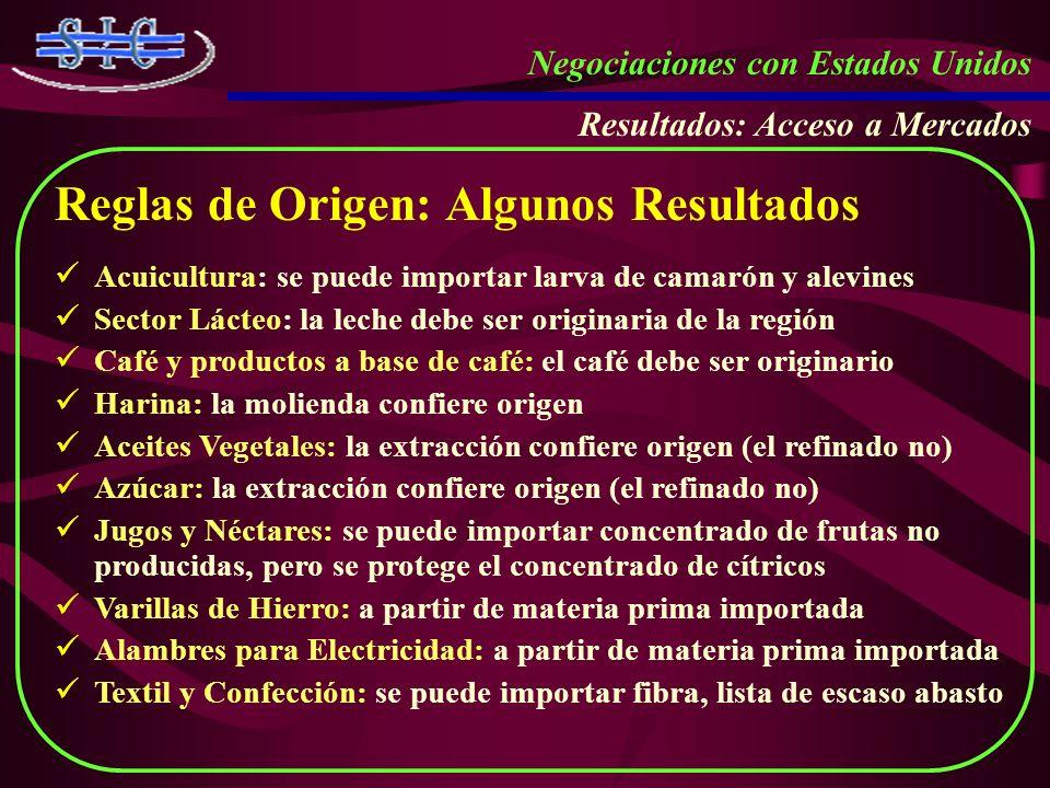 Reglas de Origen: Algunos Resultados