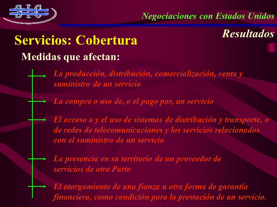 Servicios: Cobertura Resultados Medidas que afectan:
