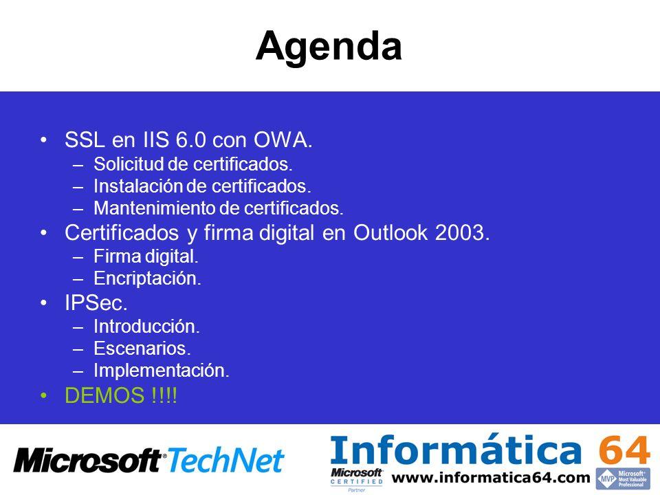 Agenda SSL en IIS 6.0 con OWA.