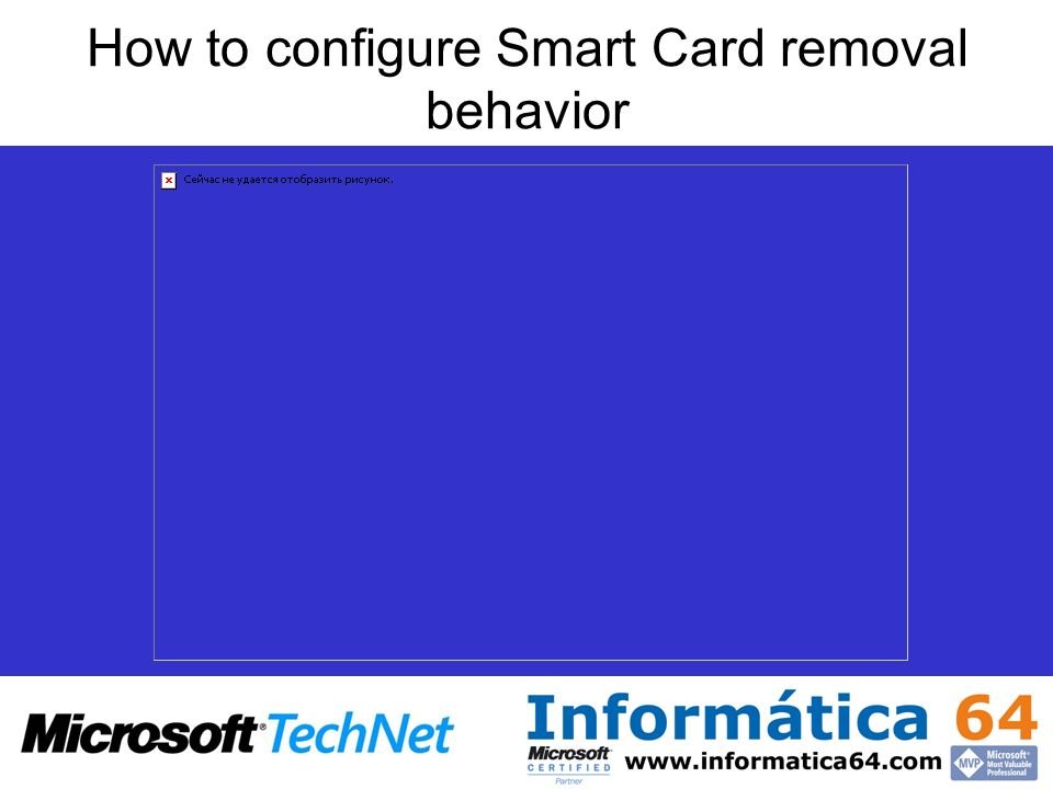 How to configure Smart Card removal behavior