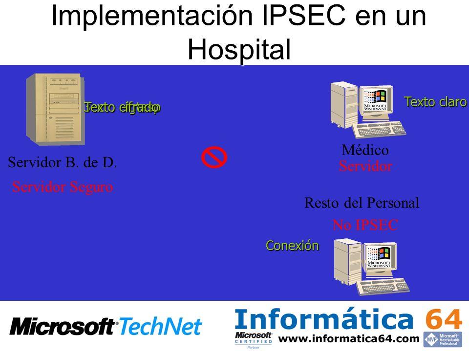 Implementación IPSEC en un Hospital